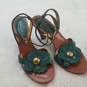 Coach Giuliana Sz 7 Flower Ankle Strap Sandal
